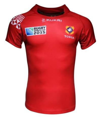 Camisetas rugby Tonga Kukri Rugby World Cup 2015 de local