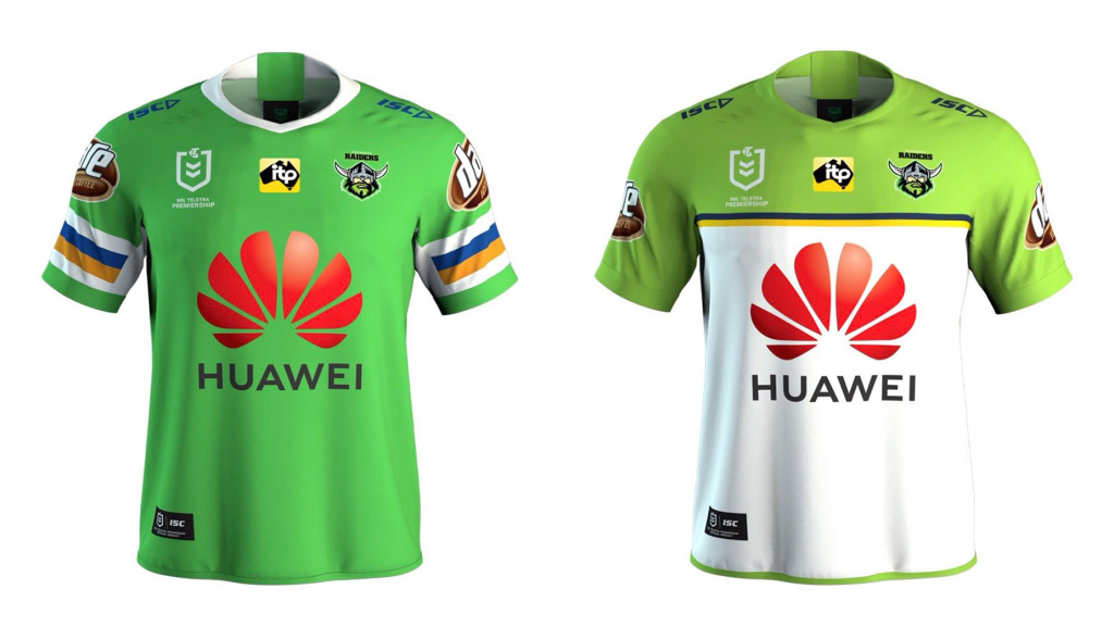 camisetas rugby Canberra Raiders 2019