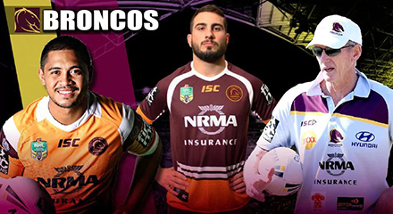 camisetas rugby Brisbane Broncos 2018